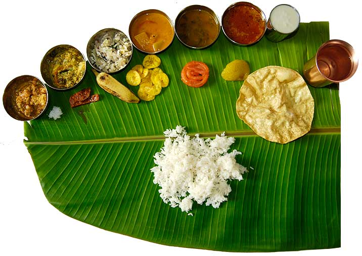 South Indian Recipes. South Indian Meals on the Banana leaf.