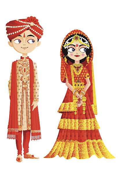 Best Indian Wedding Illustrations, Royalty.
