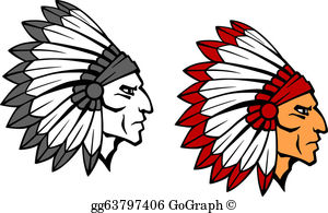 Indian Mascot Clip Art.