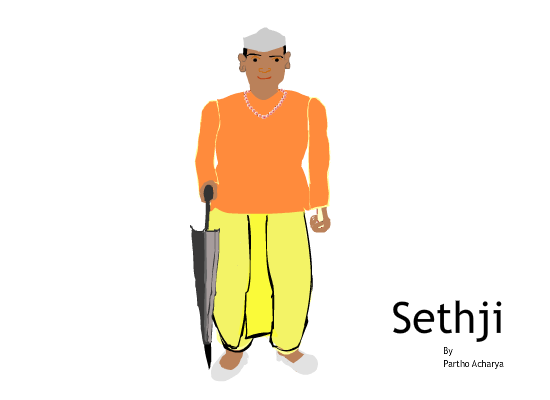 Indian man clipart.