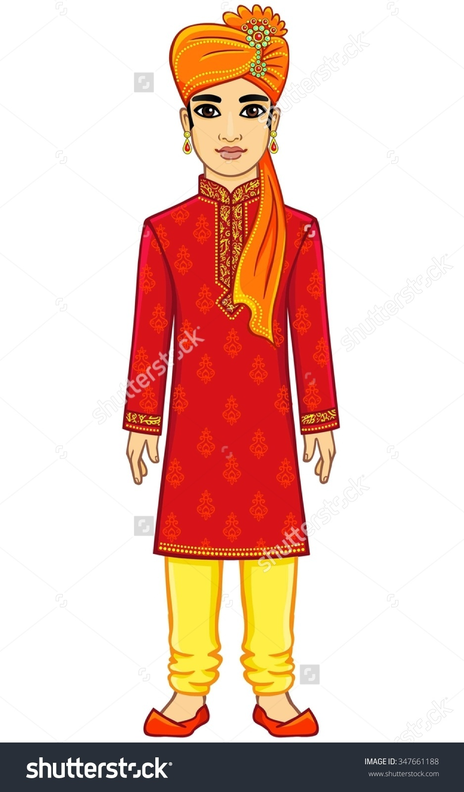 Indian person clipart.