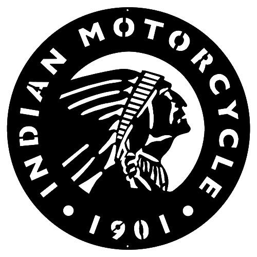 Indian Motorcycle Silhouette.