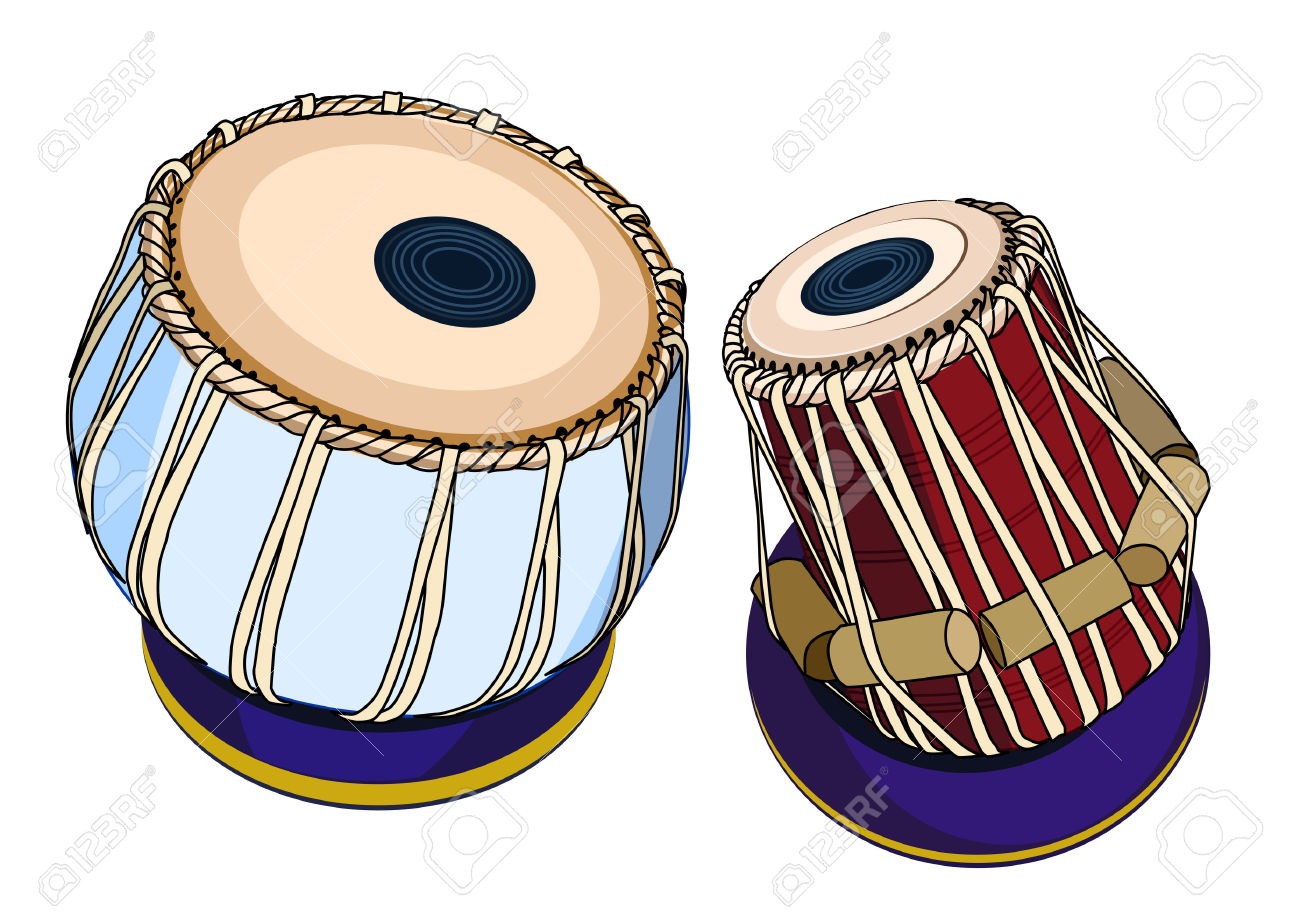 Vector Indian Musical Instruments.
