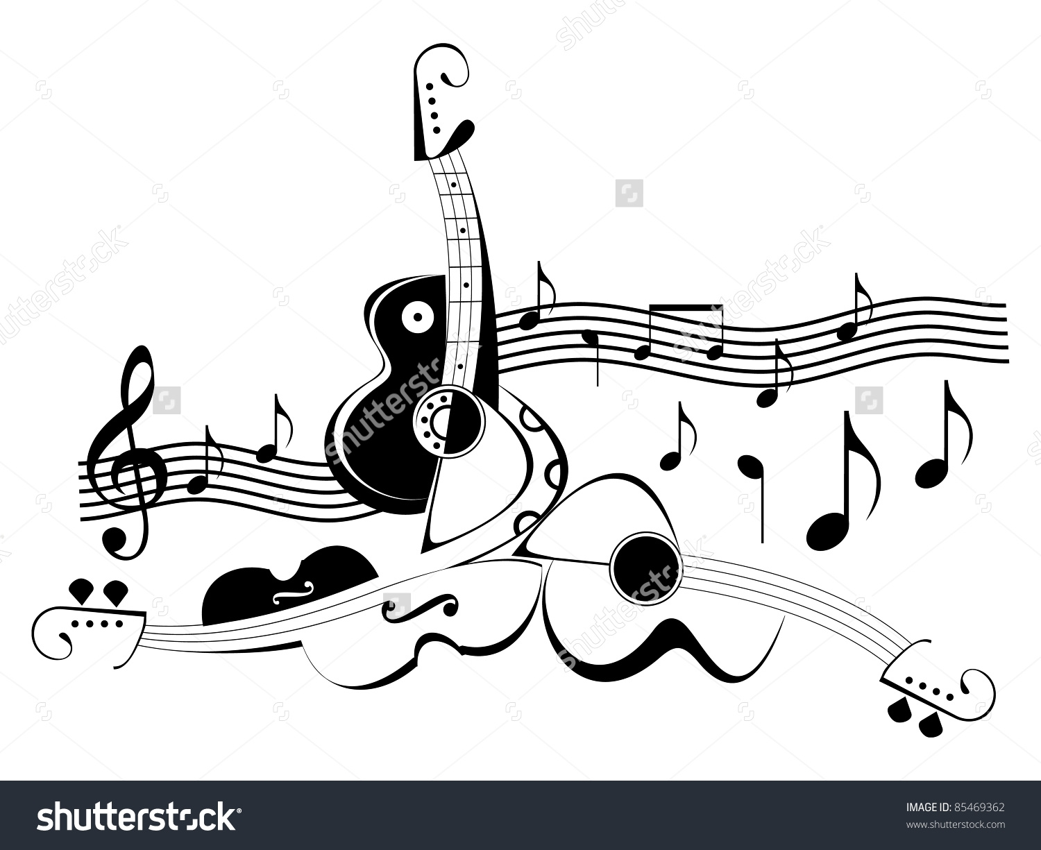 Indian Music Instruments Clipart Black And White.