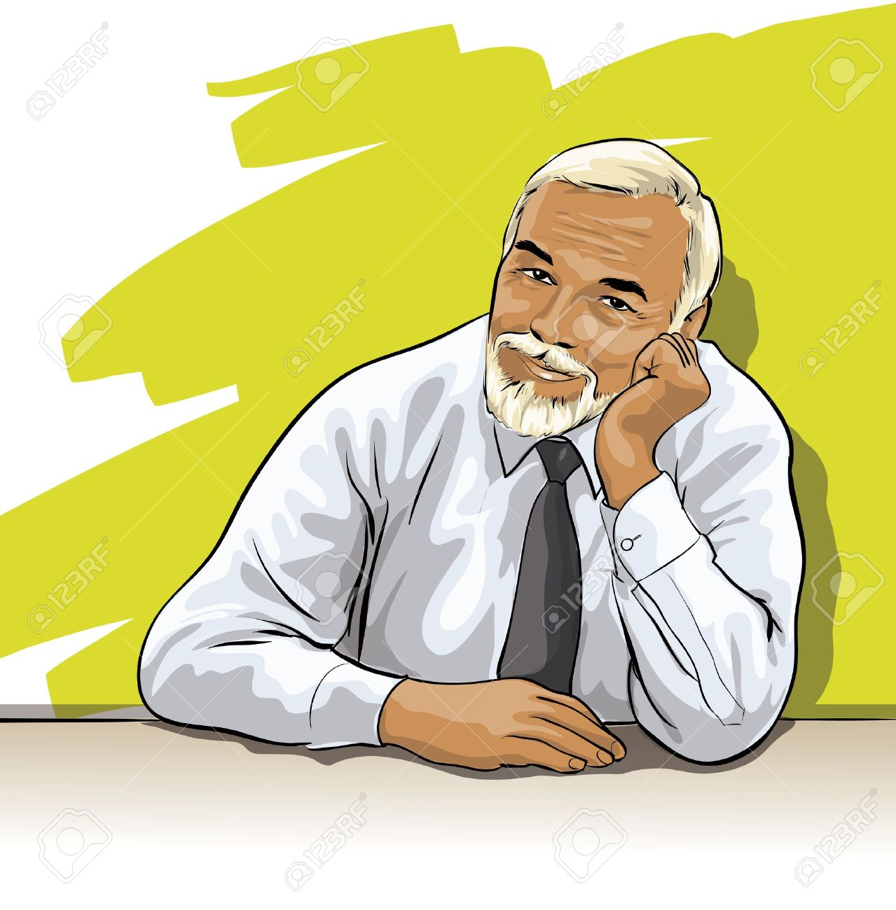 Indian old man clipart.
