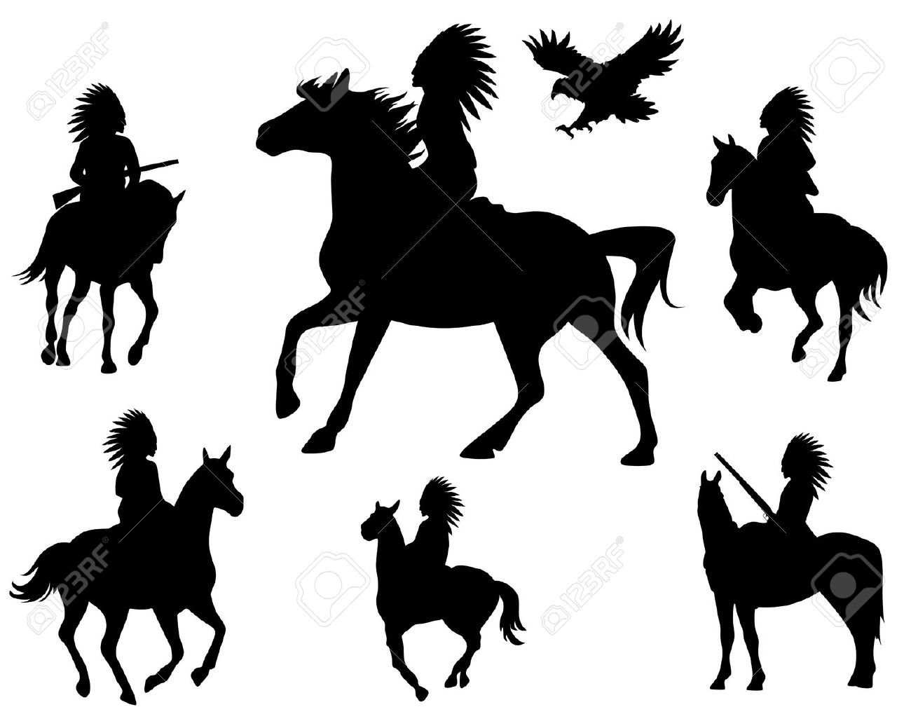 Indian On Horse Silhouette at GetDrawings.com.