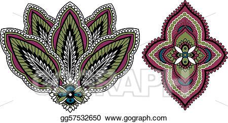 indian paisley designs clip art #8