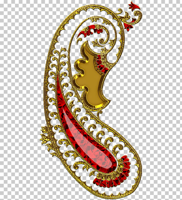 Preview Paisley , Indian ruby jewelry, jeweled gold.
