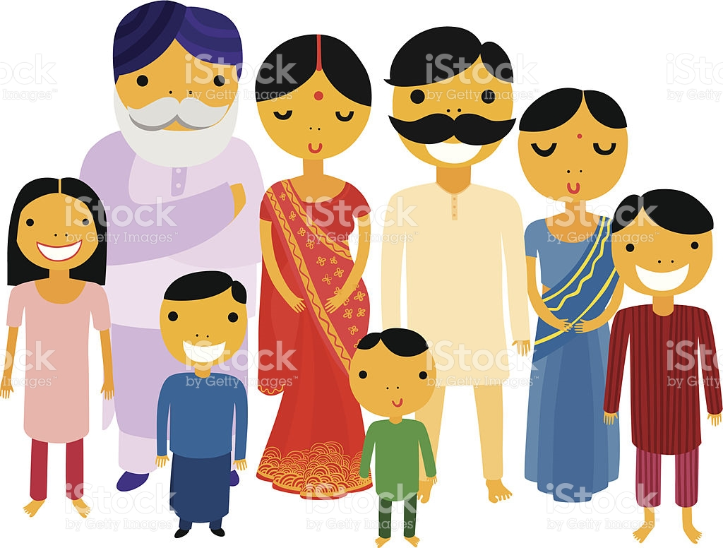 Indian Family Clip Art, Vector Images & Illustrations.