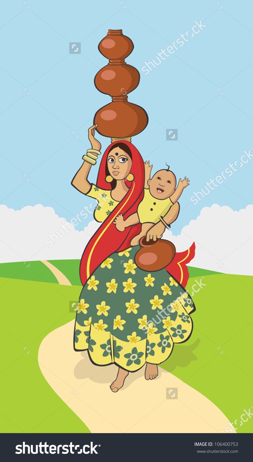 Indian People Tarasco Living In Mexico Clipart.