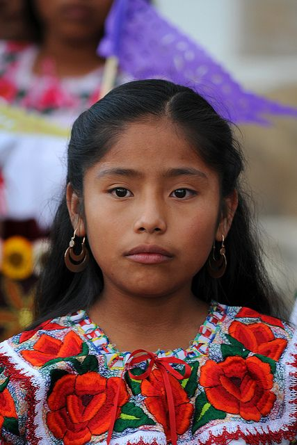 Girl from Teotitlan del Valle, Mexico. A testament to the.