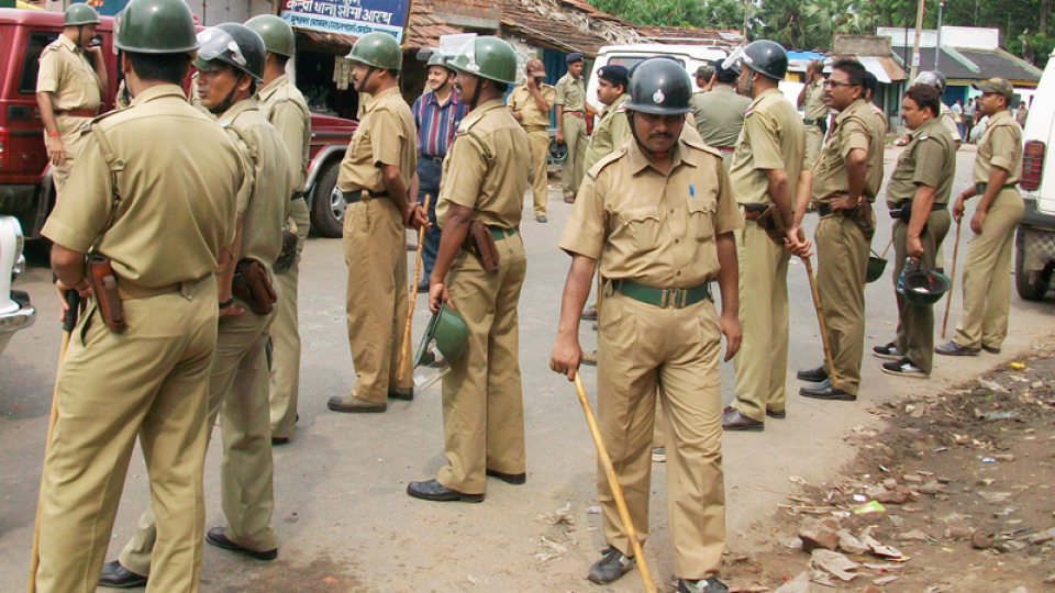 Indian police arrest Christian priest after complaint by Hindu group.