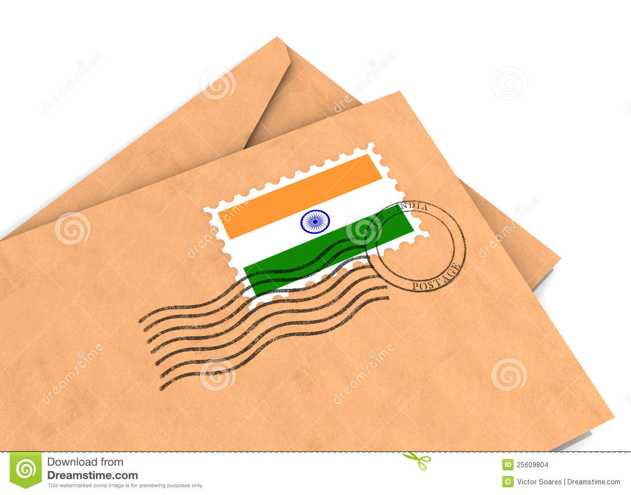 Indian Post Stock Images.