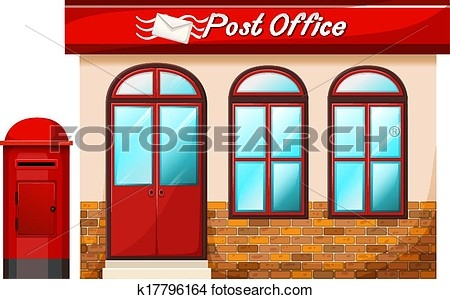 A Post Office Clipart.