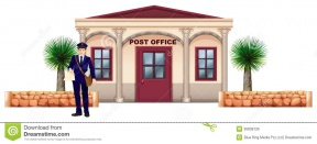 Post Office Clipart Black And White.