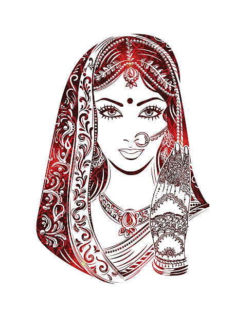 Best Clip Art Of A Indian Princess Illustrations, Royalty.