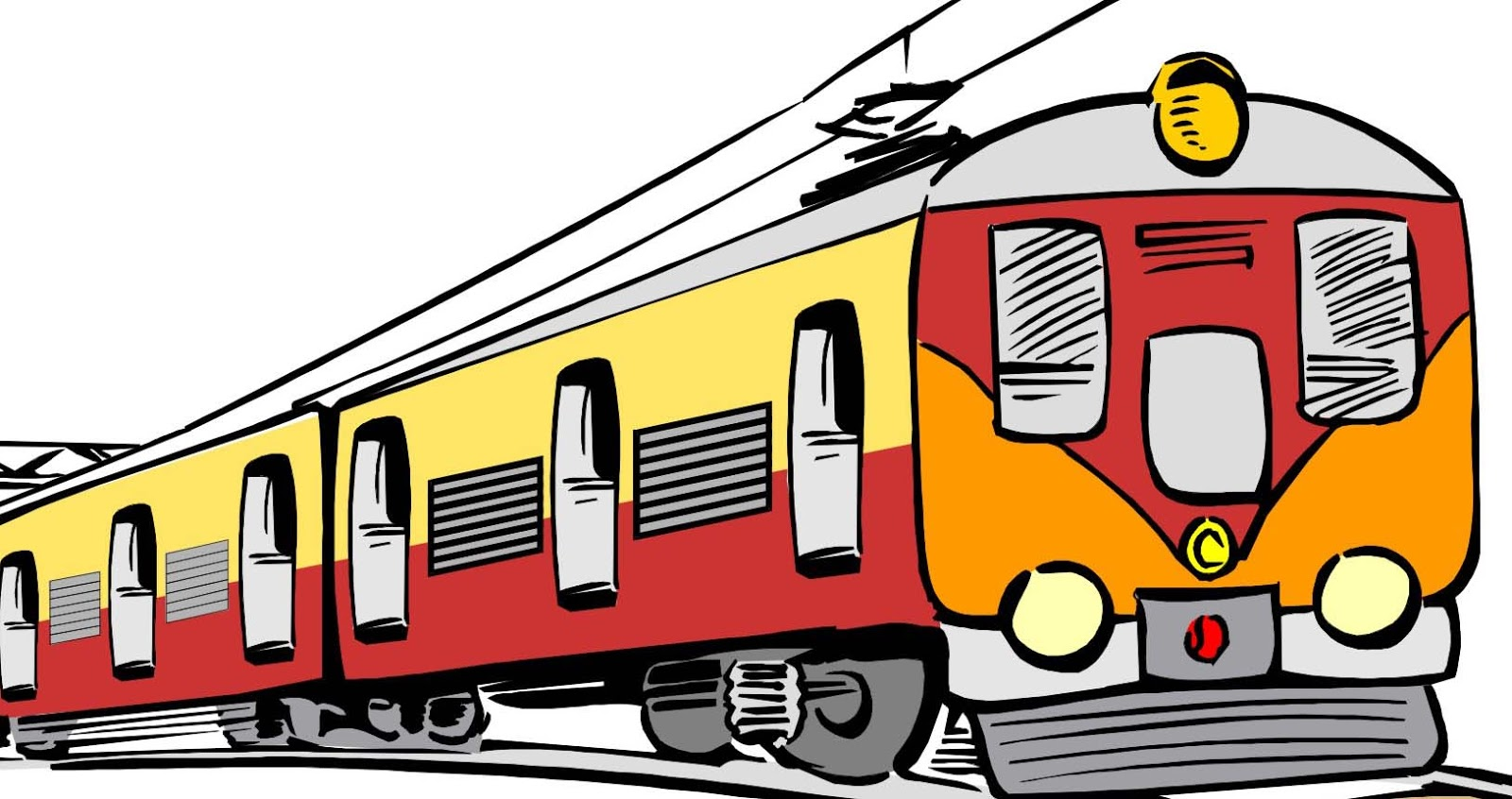 Indian railway clipart.