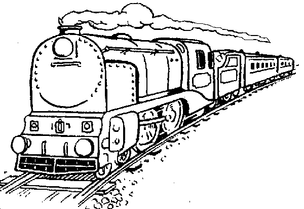 Train Drawing For Kids.