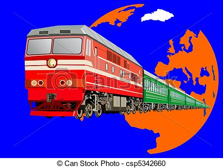 Vector Clipart of Passenger train.
