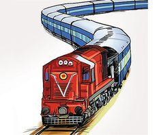 Indian railway clipart.