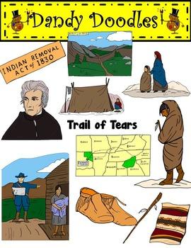 Trail of Tears Clip Art by Dandy Doodles.
