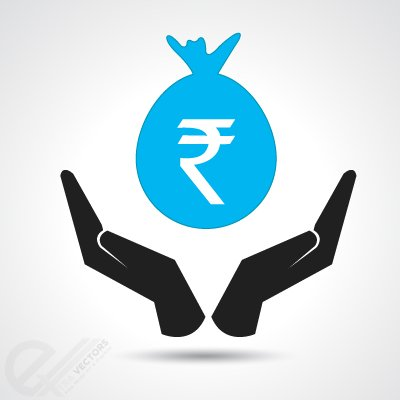 Money bag with Indian Rupee Clipart Picture Free Download.