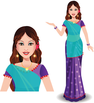 Free Indian Saree Cliparts, Download Free Clip Art, Free.