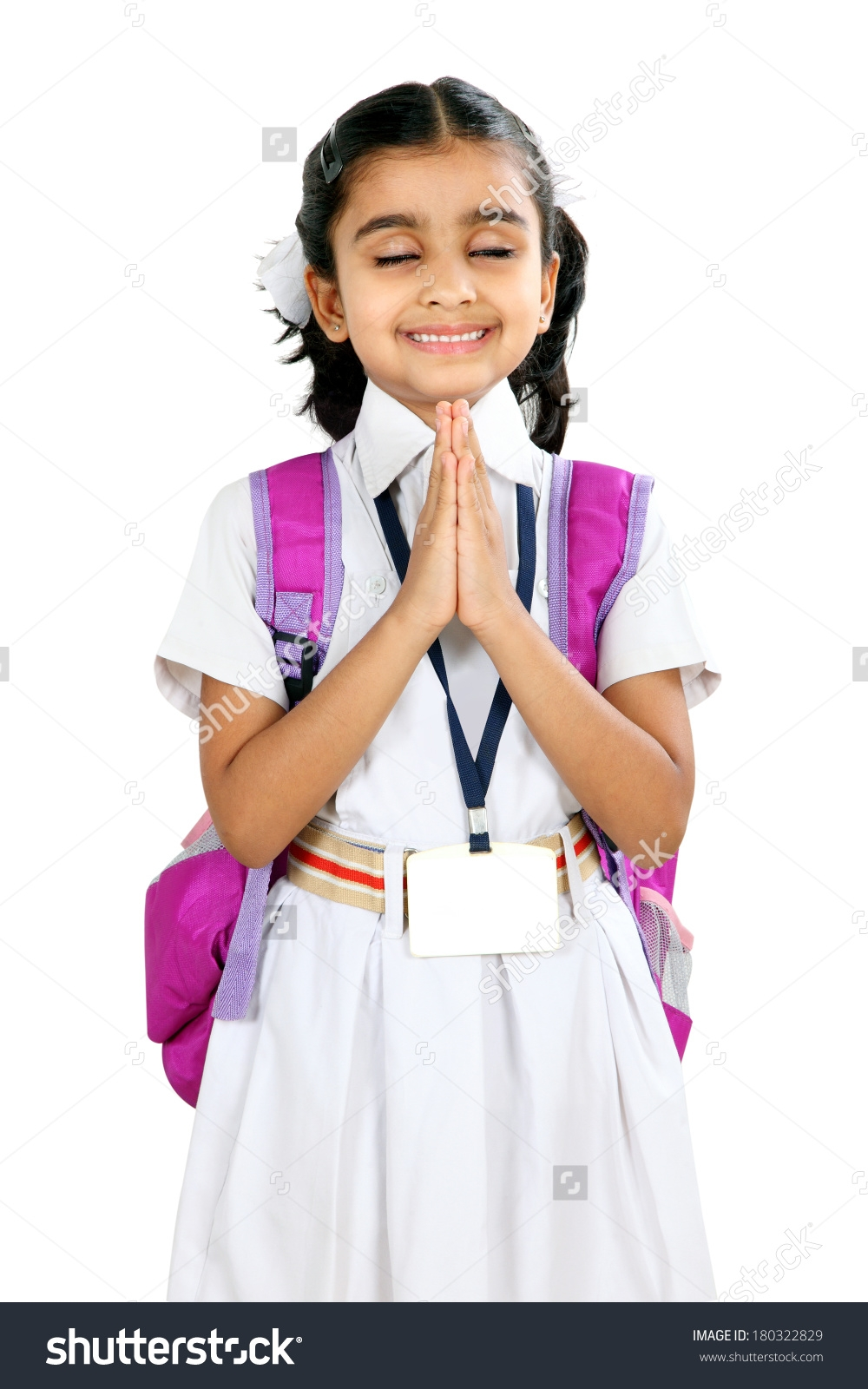 Indian School Children With Bags Clipart.