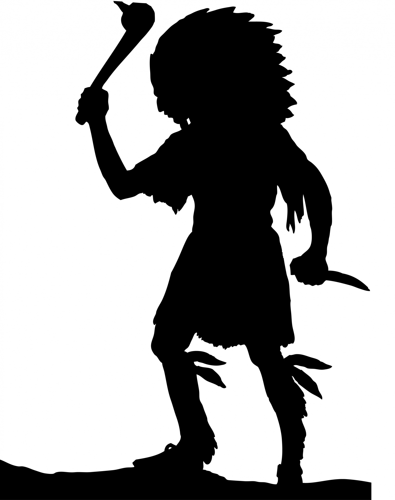 Native American Indian Silhouette.