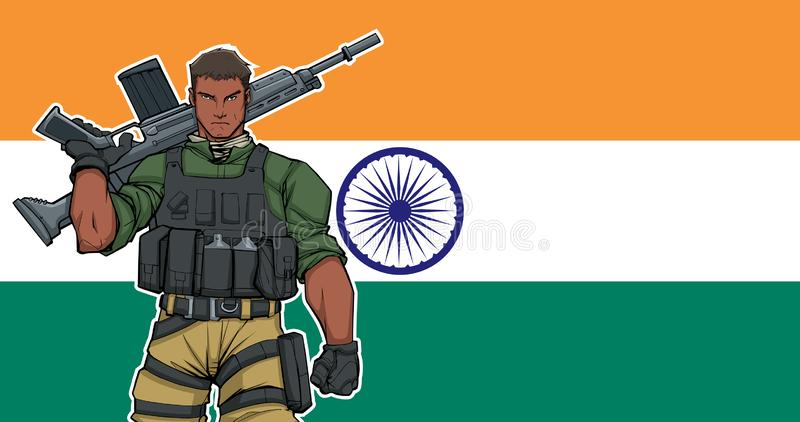 Indian Soldier Stock Illustrations.