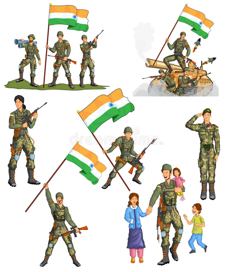 Indian Army Stock Illustrations.