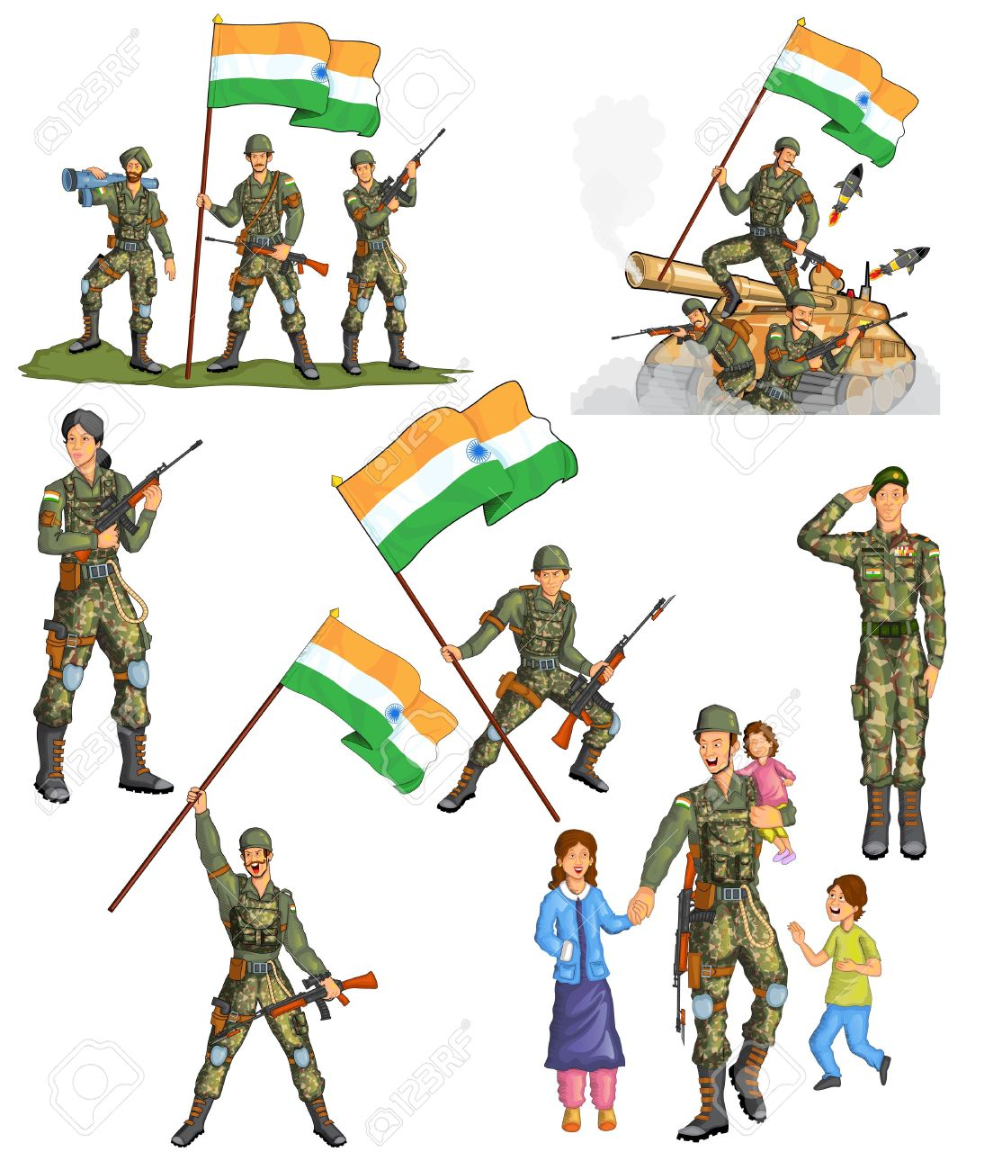 Salute to all the Indian Soldiers on National Army Day. # ...