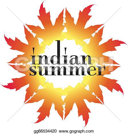 Indian Summer Clip Art.
