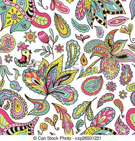 Vector Illustration of Hot Indian Summer Pattern.
