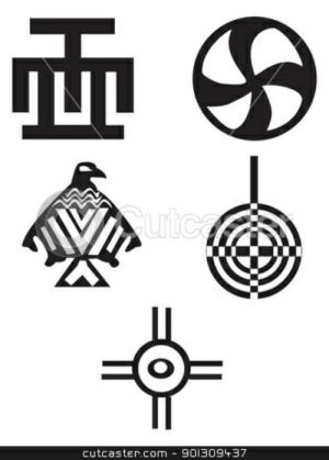 Cutcastercom 901309+37 Make Meme With Native Indian Symbols Clipart.