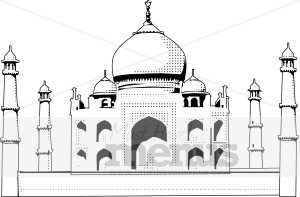 Indian temple clipart.