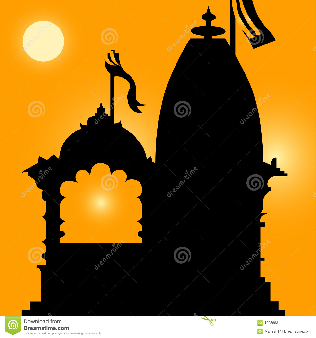 Hindu temple clipart images.