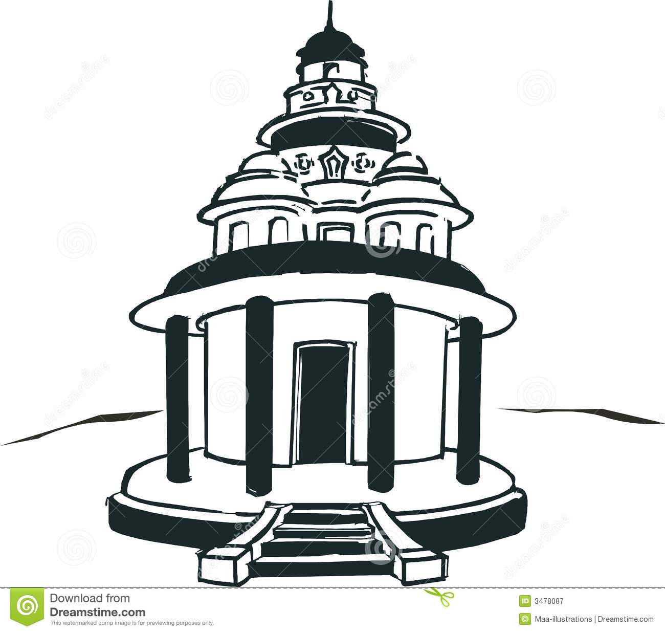 2743 Temple free clipart.