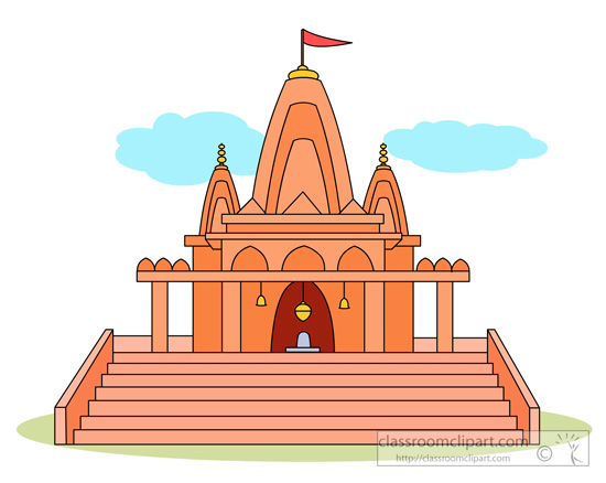 Hindu Temple Clipart.