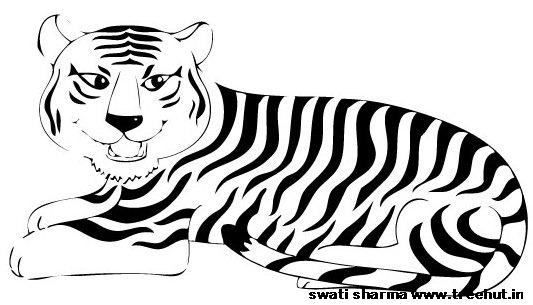 National Animal Of India Clipart.