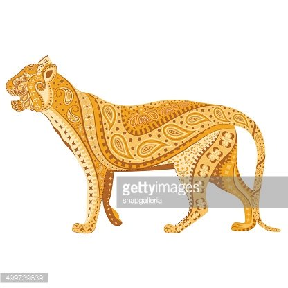 Indian Tiger Clipart Image.