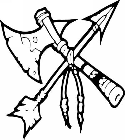 Native American Tomahawk Sticker 10.