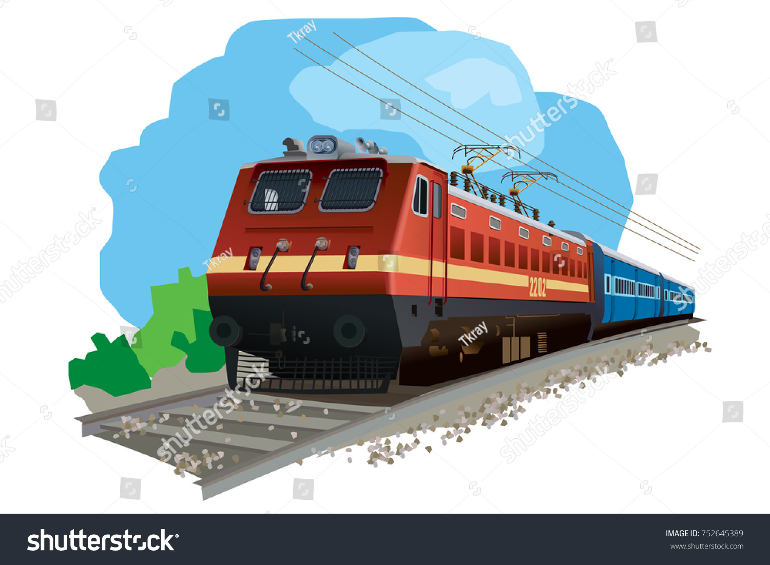 Illustration Of Indian Train #27214.