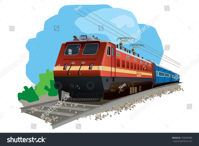 Illustration Of Indian Train #27214.