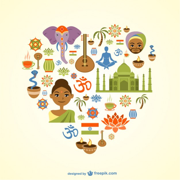 Indian Heart Free Vector.