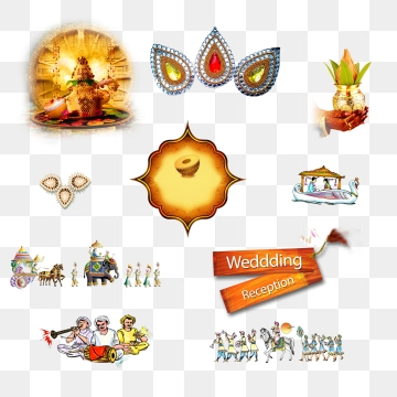 Indian Wedding Clipart Png, Vector, PSD, and Clipart With.