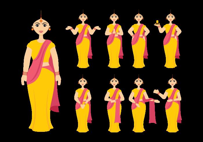 Indian Women Vector.