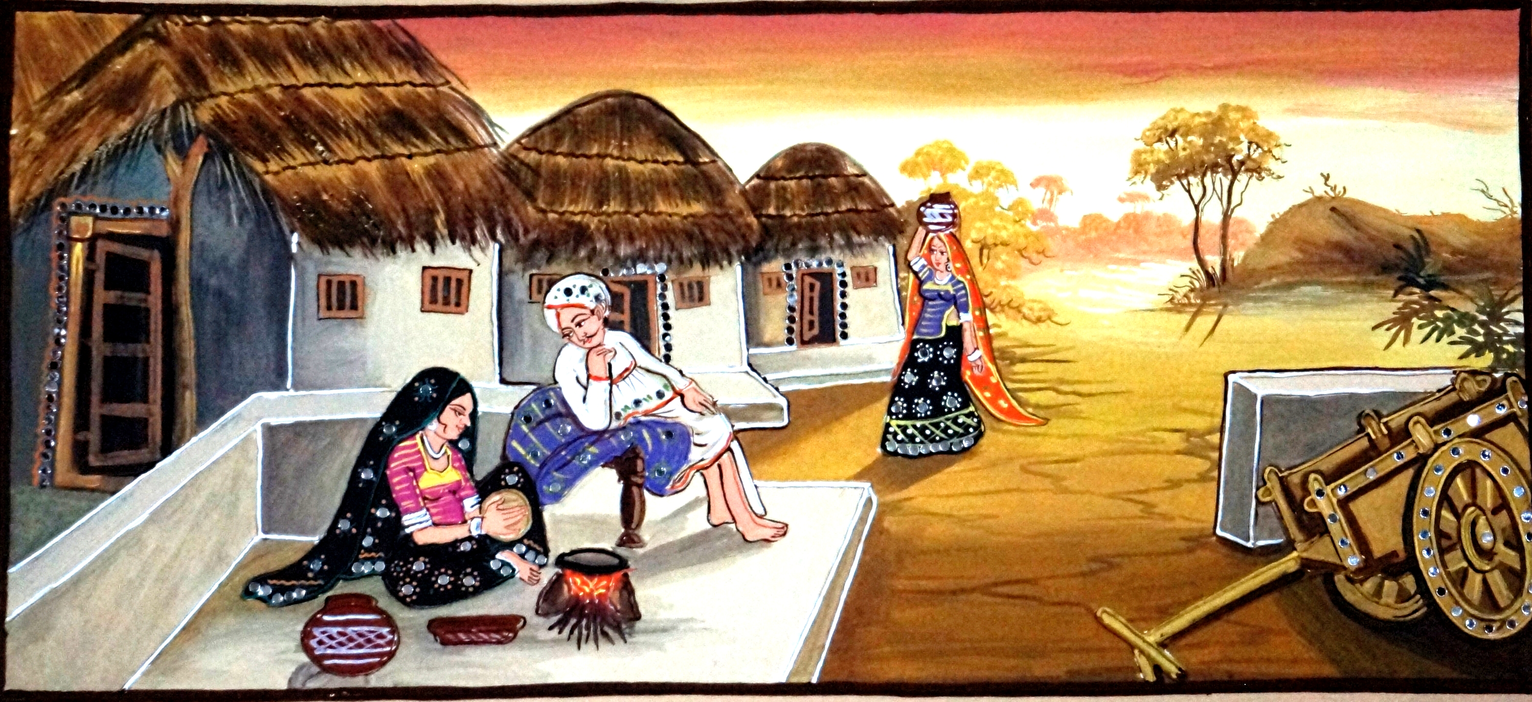 Indian village clipart images.