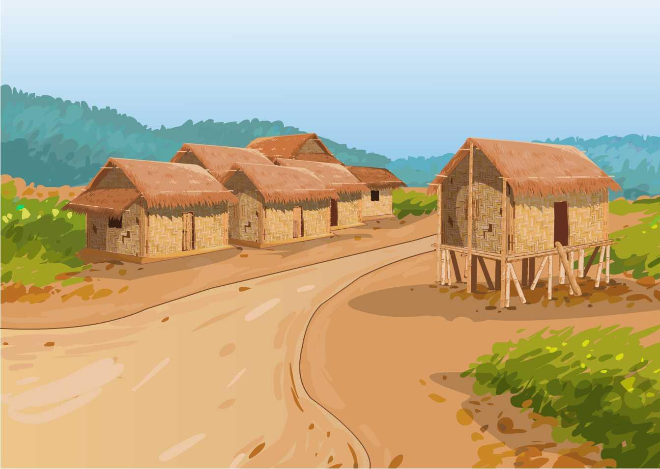 Village background clipart.