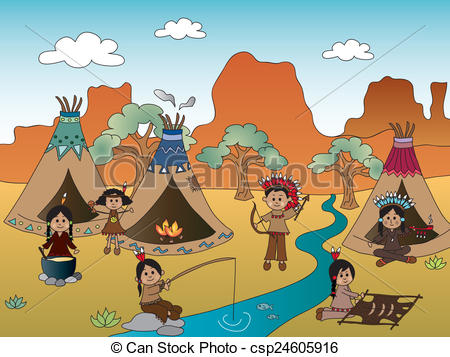 Indian village Clip Art and Stock Illustrations. 909 Indian.
